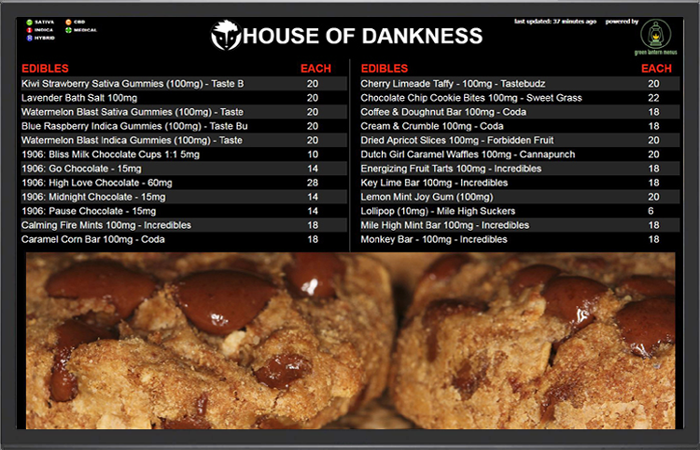 Dispensary TV Menus | Dispensary Menu Boards | Dispensary