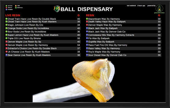 Dispensary TV Menus